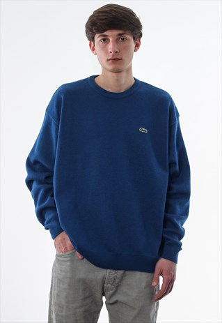 VINTAGE LACOSTE SWEATER 90S BLUE KNITTED
