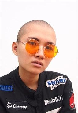 Orange Lens Octagon Frame Sunglasses