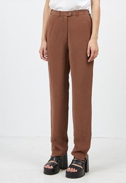Vintage Brown JARVI MUOTI Trousers Bottoms