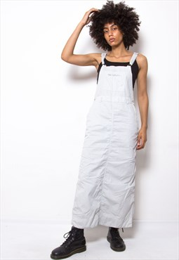 Vintage 90s Grey Dungarees Dress ID:2088