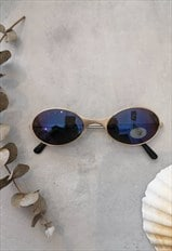 Vintage 90's Oval Mirror Sunglasses