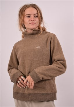 Vintage Adidas Fleece Jumper Brown