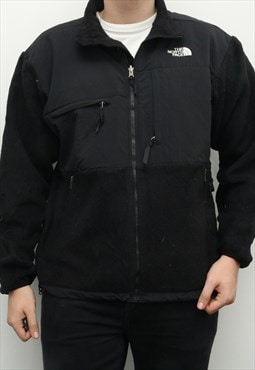 The North Face - Black Denali Embroidered Fleece Quarter Zip