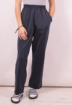 Diadora Womens Vintage Tracksuit Trousers Small Navy Blue 90