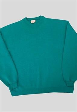 Vintage Sweatshirt Jumper American USA Green 90s M