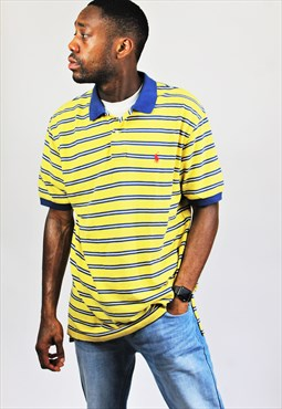 Retro / 90's / Ralph Lauren / Yellow & Blue Polo