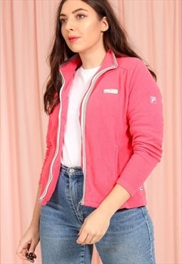 Vintage 90s Fila Pink Fleece