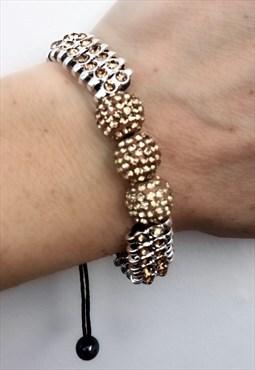 Gold Sparkle Cord Bracelet