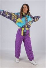 Vintage Full Ski Suit Snow Sports UK 10 - 12  (KBG)