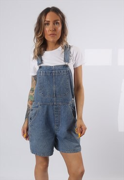 Denim Dungaree Shorts B.E.BLUES Vintage UK 14  (K7BH)