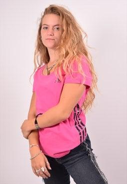 Vintage Adidas T-Shirt Top Pink
