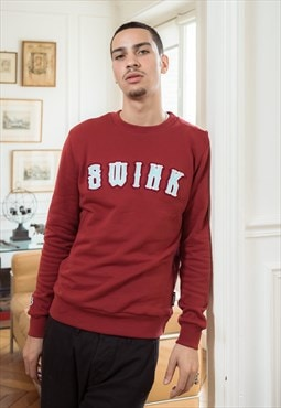 Burgundy Sweatshirt Varsity with chenille lettering