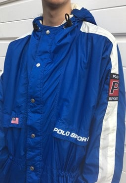 Mens Vintage 90s Ralph Lauren polo sport jacket in blue