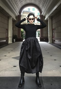Korean Style Skirt in Black