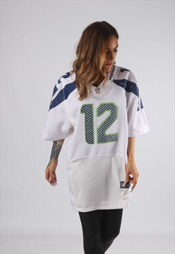 Vintage NFL Oversized T-Shirt Football Jersey Top Long (F2N)