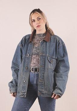 Vintage Marlboro 90s Grunge Blue Denim Jacket /A20039