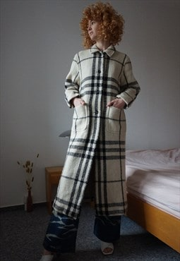 Burberry Nova Check Coat Monogram Long Coat M