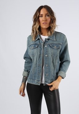 Denim Jacket GAP Lightweight Stretch UK 14 Large (G9BB)