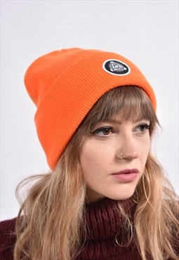 Vintage All Seeing Eye Beanie Hat Cap Orange