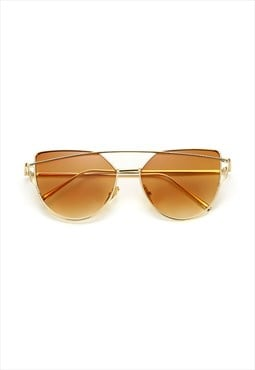 Lucy Cat Eye Sunglasses Gold