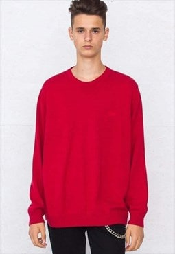 Vintage Red HUGO BOSS Round Neck Knit Jumper