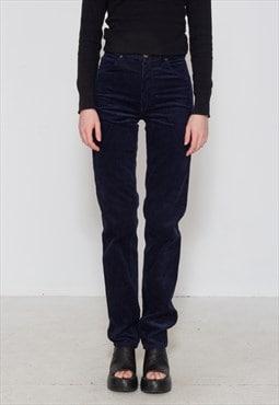 Vintage Navy WRANGLER Corduroy Trousers Bottoms