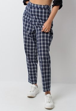 Vintage 90s y2k checked trousers