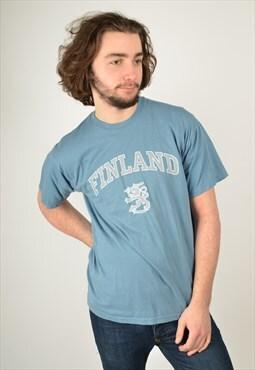 Vintage Finland Graphic Print Tourist T-Shirt