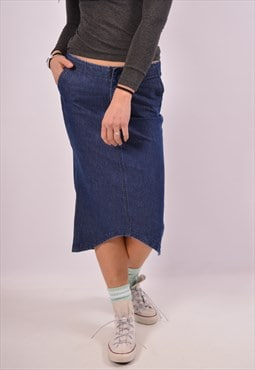 Vintage Guess Denim Skirt Blue