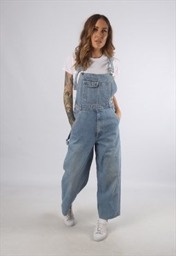 Vintage Denim Dungarees Wide Leg UK S 10  (93A)