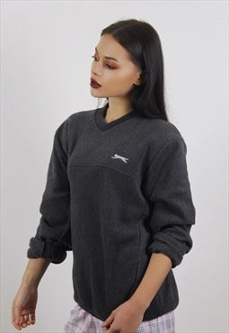 Vintage Grey Slazenger Fleece Sweatshirt
