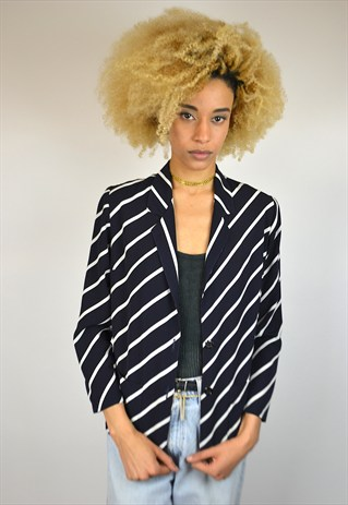 VINTAGE 90'S STRIPED BLAZER TOP