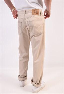 Vintage Levi's 451 Jeans Straight Beige