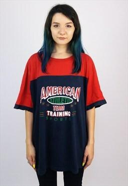 Vintage 90's Unisex Colour Block Retro Sports T-Shirt