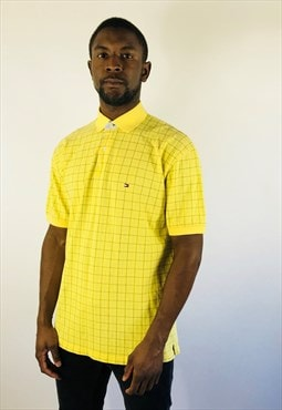90s Tommy Hilfiger Yellow Polo