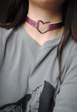 MoonChild Sweetheart pink holographic choker
