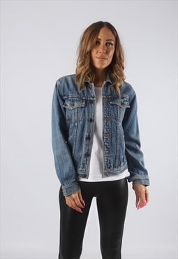Vintage Denim Jacket UK 6 XXS   (HDT)