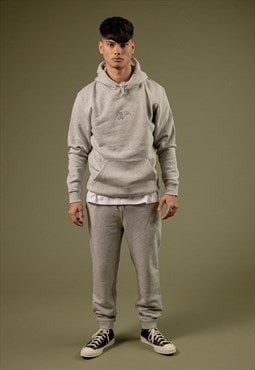 Embroidered Logo Joggers - Grey