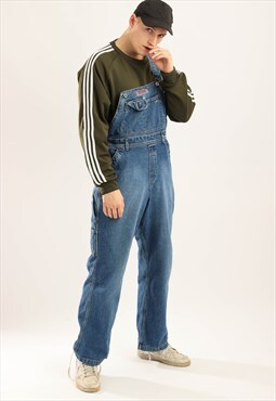 Silver Vintage Denim Dungaress Blue