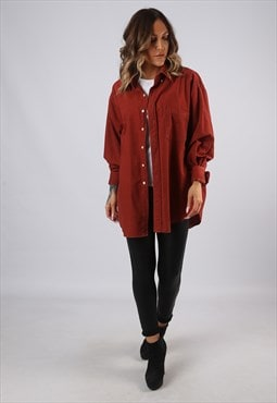 Cotton Shirt Oversized Vintage UK 18 - 20 (GJ2M)