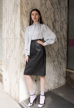 Vintage 80's Classy Leather Pencil Skirt