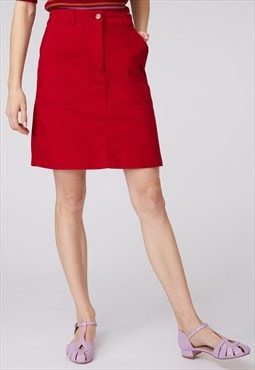 Princess Highway Red Denim Mini Skirt