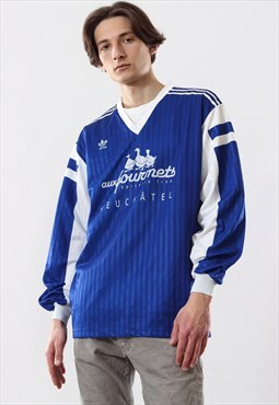 80s Vintage Mens ADIDAS ORIGINALS Training Top Jersey Shirt