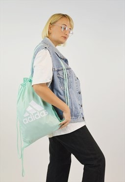 Vintage Adidas Classic new Sports Bag in turquoise color