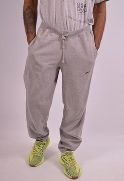 Nike Mens Vintage Tracksuit Trousers Small Grey 90s