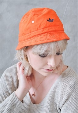 Vintage Adidas Bucket Hat Orange
