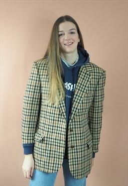 Vintage Checked DAKS Wool Blazer