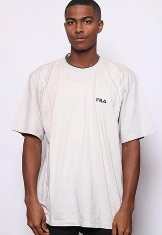 Vintage Fila Embroidered Logo T-Shirt White