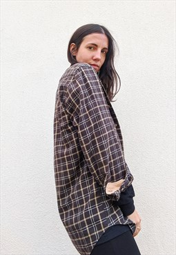Vintage men's Barbour checkered shirt