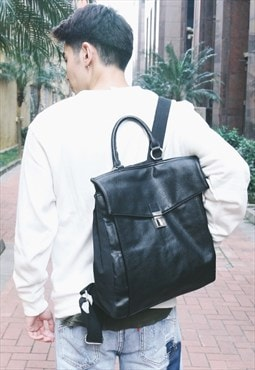 Shalex Leather and Canvas Backpack